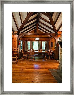 Babcock Cabin Interior 2 Framed Print by Steve Harrington