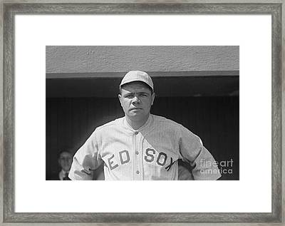Babe Ruth 1919 Framed Print by Padre Art