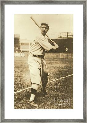 Babe Ruth 1920 Framed Print by Padre Art