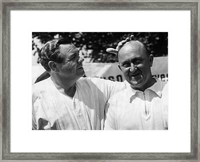 Babe Ruth, And Ty Cobb, Circa 1941. Csu Framed Print by Everett