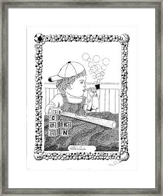 Babe Tooth Framed Print by Peter Cornelis
