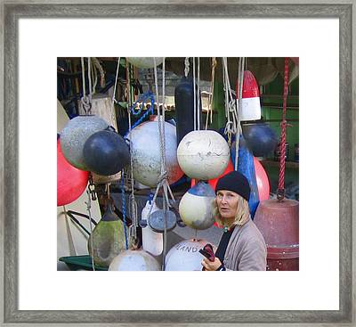 Babe With The Buoys Framed Print by Kym Backland