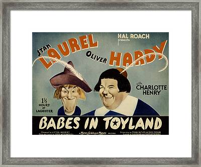 Babes In Toyland,from Left, Stan Framed Print by Everett