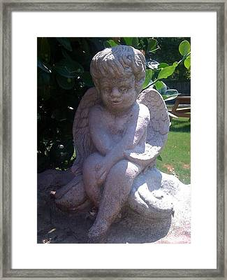 Baby Angel Framed Print by Rebecca Poole