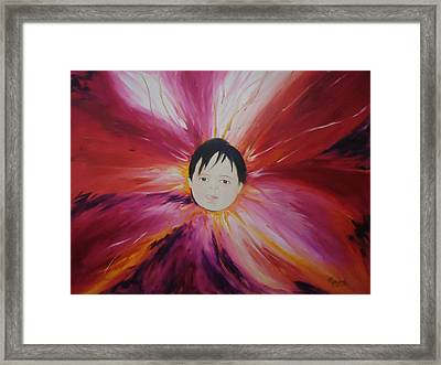 Baby Bloom Framed Print by Navjeet Gill