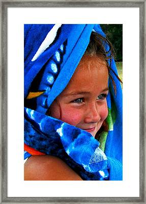 Baby Blue Eyes Framed Print by Carrie OBrien Sibley