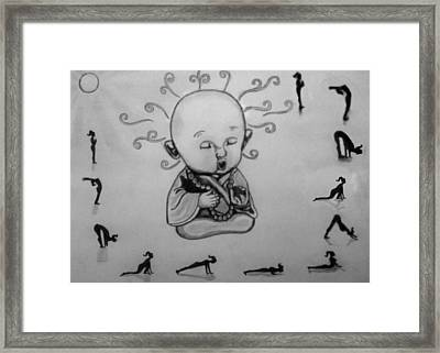 Baby Buddha Framed Print by Shashi Kumar