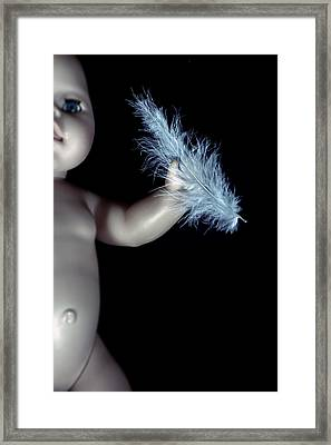 Baby Doll With Feather Framed Print by Joana Kruse