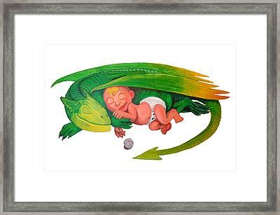 Baby Dragon Framed Print by Harm  Plat