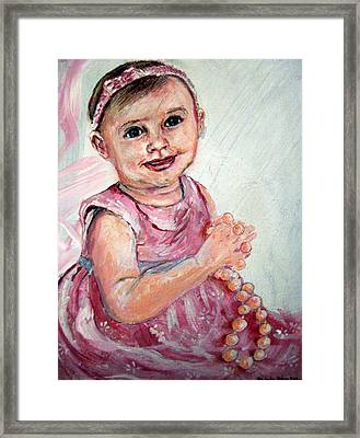 Framed Print featuring the painting Baby Girl 2 by Amanda Dinan