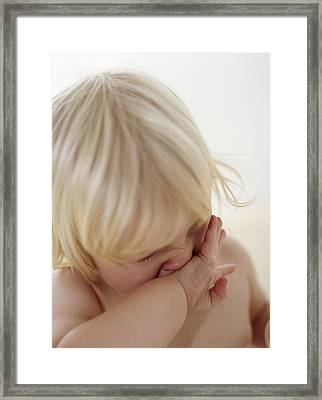 Baby Girl Framed Print by Ian Boddy