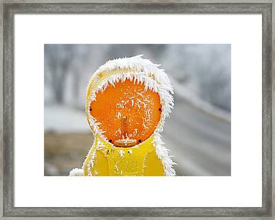 Baby It's Cold Outside Framed Print by Christine Till