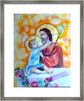 Baby Jesus  Framed Print by Myrna Migala