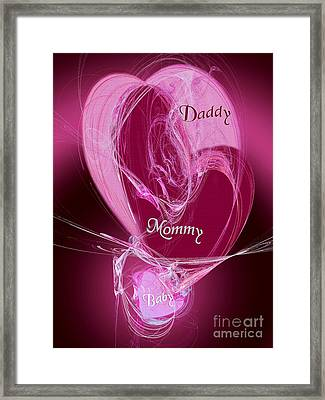 Baby Makes 3 Framed Print by Andee Design
