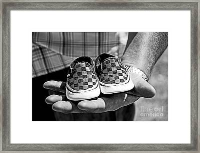 Baby Shoes Framed Print by Baywest Imaging
