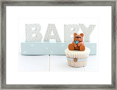 Baby Shower Cupcake Framed Print