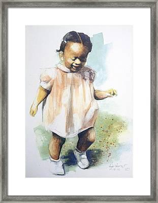 Baby Steps Framed Print by Gregory DeGroat