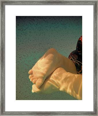 Baby Swim Framed Print by Tony Grider