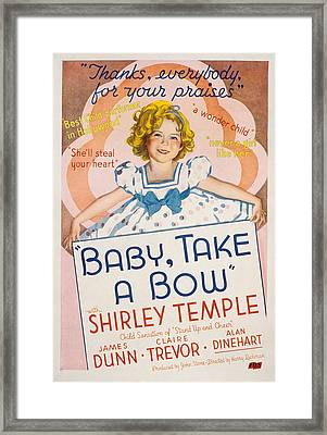 Baby Take A Bow, Shirley Temple, 1934 Framed Print