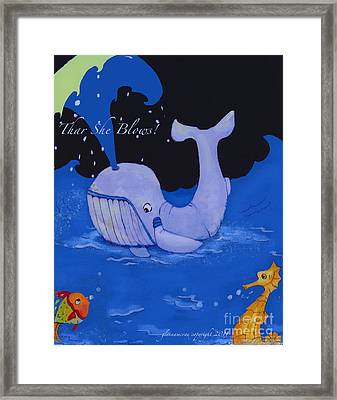 Baby Whale Framed Print by Glenna McRae