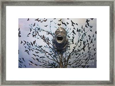 Baby With Bats Framed Print by Jody Cooley