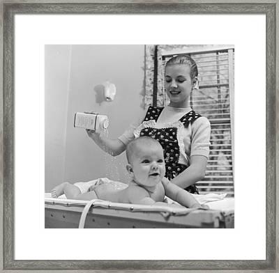 Baby's Bottom Framed Print