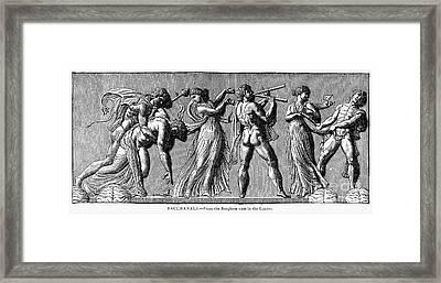 Bacchanal Scene Framed Print