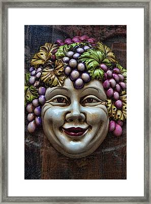 Bacchus God Of Wine Framed Print by David Smith