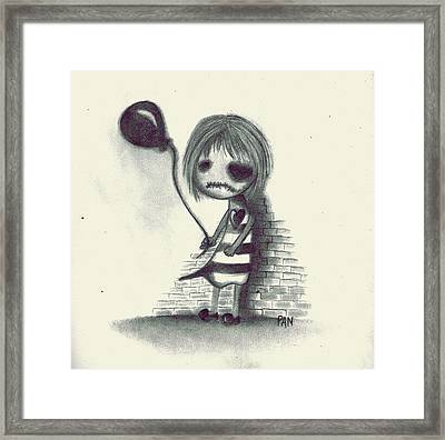 Back Against The Wall Framed Print by Cristin Chambers