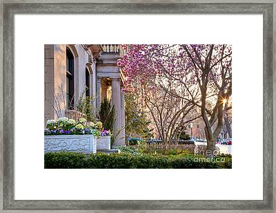 Framed Print featuring the photograph Back Bay Spring by Susan Cole Kelly