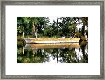 Back Creek Solitude Framed Print