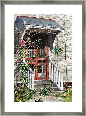 Back Door Friends  Sold Framed Print