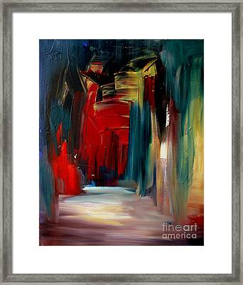 Back Doors Are For Slamming Framed Print by Julie Lueders