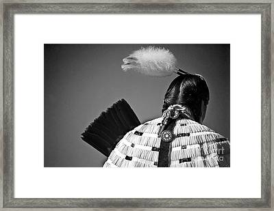 Back Feather Framed Print by Diego Re
