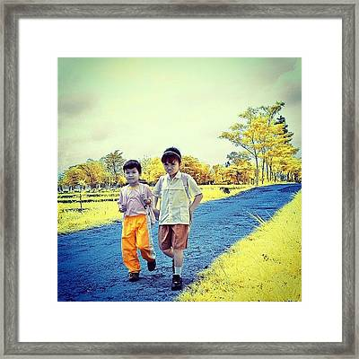 Back From School Framed Print