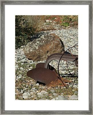 Back Half Of Old Plow Framed Print by Ernie Echols