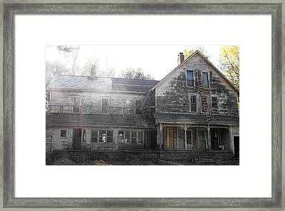 Back Of 1860's Mansion Framed Print by Kristie  Bonnewell