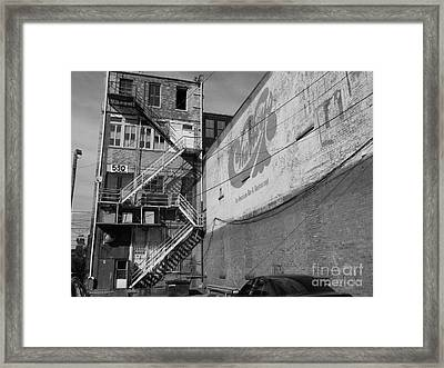 Framed Print featuring the photograph Back Of Historic Louisville Building by Utopia Concepts