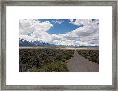 Back Of Lake Crowley Framed Print by Kirk Williams