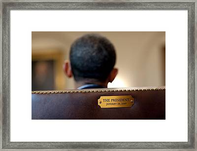 Back Of President Barack Obamas Head Framed Print