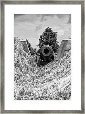 Back Off Framed Print by Guy Whiteley