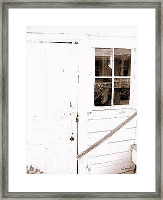 Back Porch Reflections Framed Print by Ed Smith