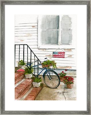 Framed Print featuring the painting Back Step by Nancy Patterson