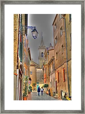 Back Streets Of Sanary Framed Print by Rod Jones