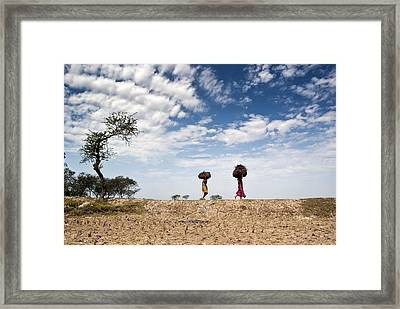 Back To Home Framed Print by Prasanta Singha Photography