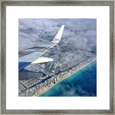 Back To Miami Framed Print