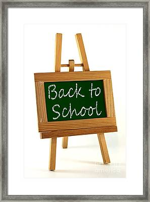 Back To School Sign Framed Print