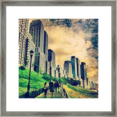 Back To The City.  Framed Print