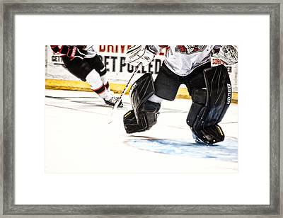 Back To The Crease Framed Print