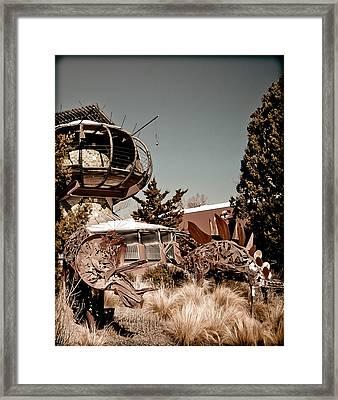 Albuquerque, New Mexico - Back To The Future Framed Print